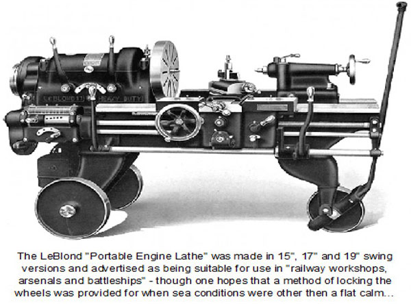 portable engine lathe year 1931
