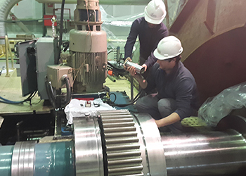 repair on site of a rotor in thermal plant
